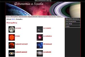 Astronomia Scuola sito web
